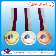 Ghana Gold Silber Bronze Medaille Gravierte Medaille Weiche Emaille Medaille mit Tape Ribbon Medaille für Regierung (lzy00016)