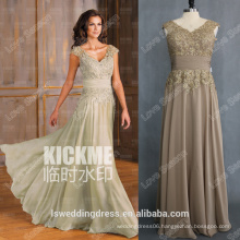 RP0132 Brown V front and back chiffon lace beaded fat women dresses 2014 summer dress woman sexy see through back evening dress