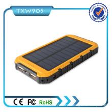 Cargador de batería dual del USB Banco de energía solar portable del banco de la energía solar del banco 10000mAh para el teléfono celular