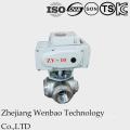 Válvula de bola de presión media con brida de 2 PC con actuador de Taiwán