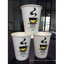 Wegwerfkundenspezifische Logo-Entwurfs-heiße Papierkaffeetasse