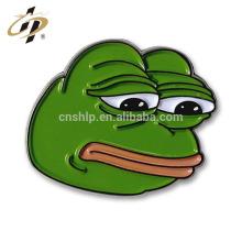 Wholesale Cheap Custom Sad Pepe Frog Enamel Metal Cartoon Lapel Pin China Manufacturers