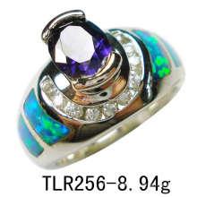 Joias-criado opala prata ou anel de bronze (TLR256)