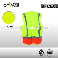 2015 traffic warning High Visibility lighted yellow and orange kids reflective safety vest