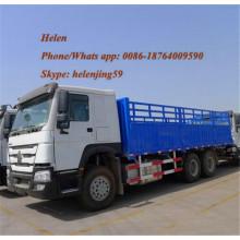 Camión de carga de comestibles de valla 6x4 de servicio pesado