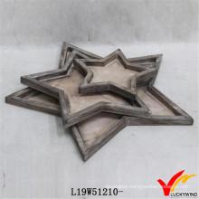 New Design Decorative Pentagram Trays for Ottomans