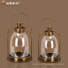 candle lantern antique imitation candle lantern glass and iron candle lantern