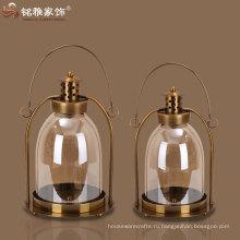 свеча фонарь античная имитация свечи фонарь, стекло и железо фонарь свеча