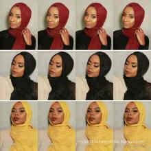 New 46colors Stocked maxi oversize head wraps hijabs shawls custom viscose premium cotton crinkle plain hijab scarf