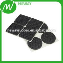 Самая лучшая продавая резиновая ножка платформы OEM квадратная с задней клейкой лентой