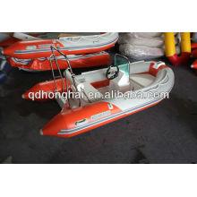 Barco inflable rígido de fibra de vidrio 350 de la costilla