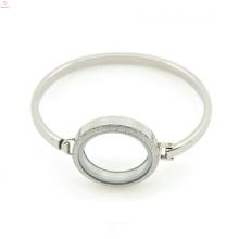"Plain silver jewelry 7""-8"" inch stainless steel locket bracelet&bangle, classic cuff bangle"