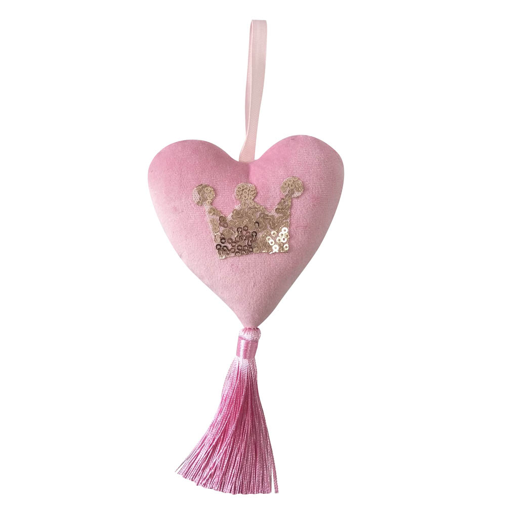 Pink Christmas Heart Ornament