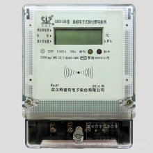 Medidor de Vatios-Horas de Multi-Taxa de Eletricidade de Fase Única Prepaid Controlado
