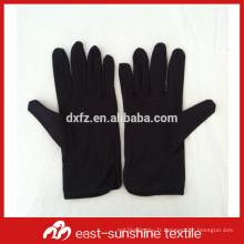 Logo personnalisé imprimé microfibre électronique bijoux gants noirs, gants en microfibres, gants de nettoyage