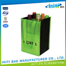 2015 New design printing customized top quality promotional jute wine bottle bag