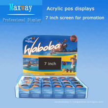 affichages Pos acrylique avec écran LCD 7 pouces pour la promotion