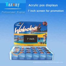 acrílico pos exibe com tela de 7 polegadas lcd para promoção