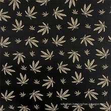 Rayon Bengaline Print Maple Leaf Style Garment Fabric