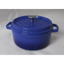 Blue Round Emaille Casserole Classic