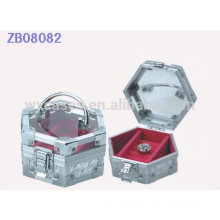 New arrival aluminum jewellery gift box with glass lid