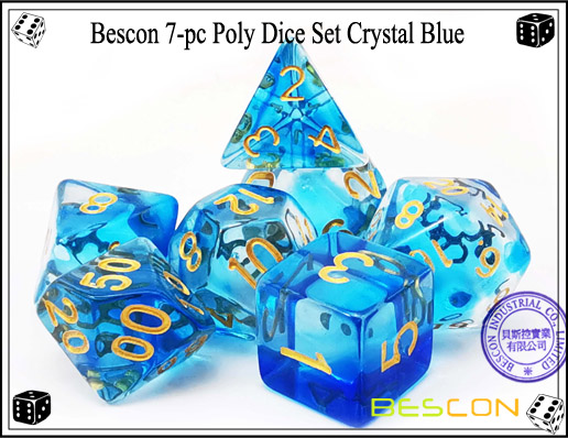 Crystal Blue Dice Set-1