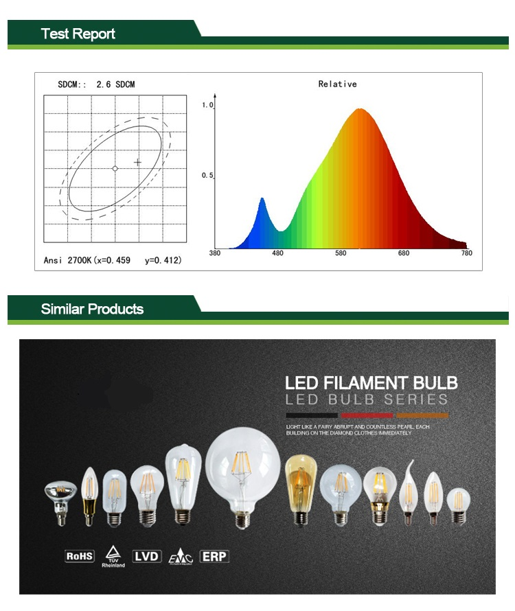 LED 8w filament bulbs