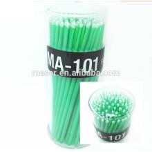 Soins des yeux 100 Pcs 3 couleurs Plasitc Dental Jetable en micro-brosse à l'épreuve des paupières, extension des cils Outils de nettoyage