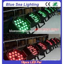 Дешевле и лучше качество Крытый 18шт 12w светодиодный этап освещения RGBW 4in1 привели лампочку пар