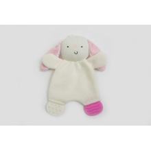 Fábrica de malha de tecido de malha de tecido Teether Toy bebê