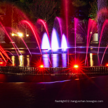dancing water fountain with led lights