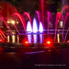 fonte de água dançando com luzes led