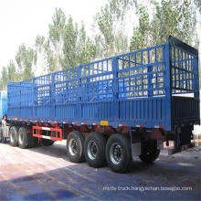 Cimc Latbed Semitrailer with Stake Container Semitrailer