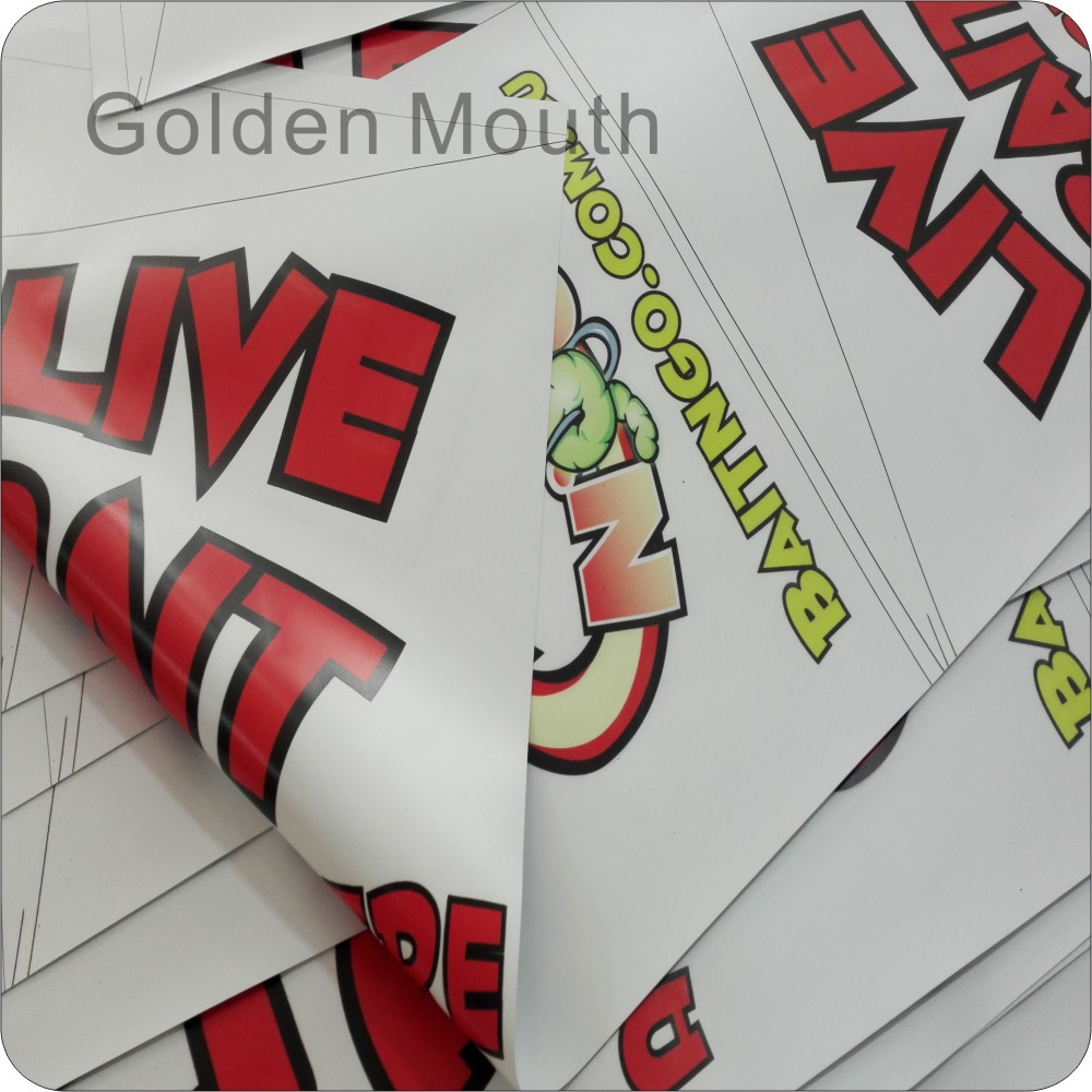 double sided printed banner