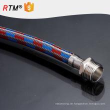 B17 PTFE-Teflonschlauch geflochten mit Edelstahl 3 Zoll Schlauch flexible Metallschläuche