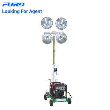 Mini tour d'éclairage de générateur mobile avec ampoule LED
