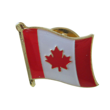 Aangepaste Canadese World Flag Enamel Revers Pin