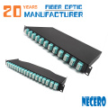 4 Adapter Plates With 12/24 Lc Fully-Loaded Lc Flat 1U Fiber Patch Panel