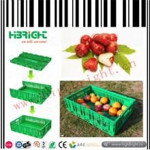 Caisses en plastique pliables de légumes et de fruits