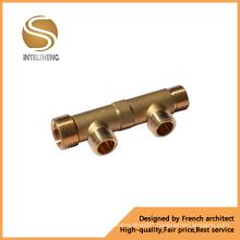 Good Quality 2 Ways Brass Manifold (TFM-010-02)