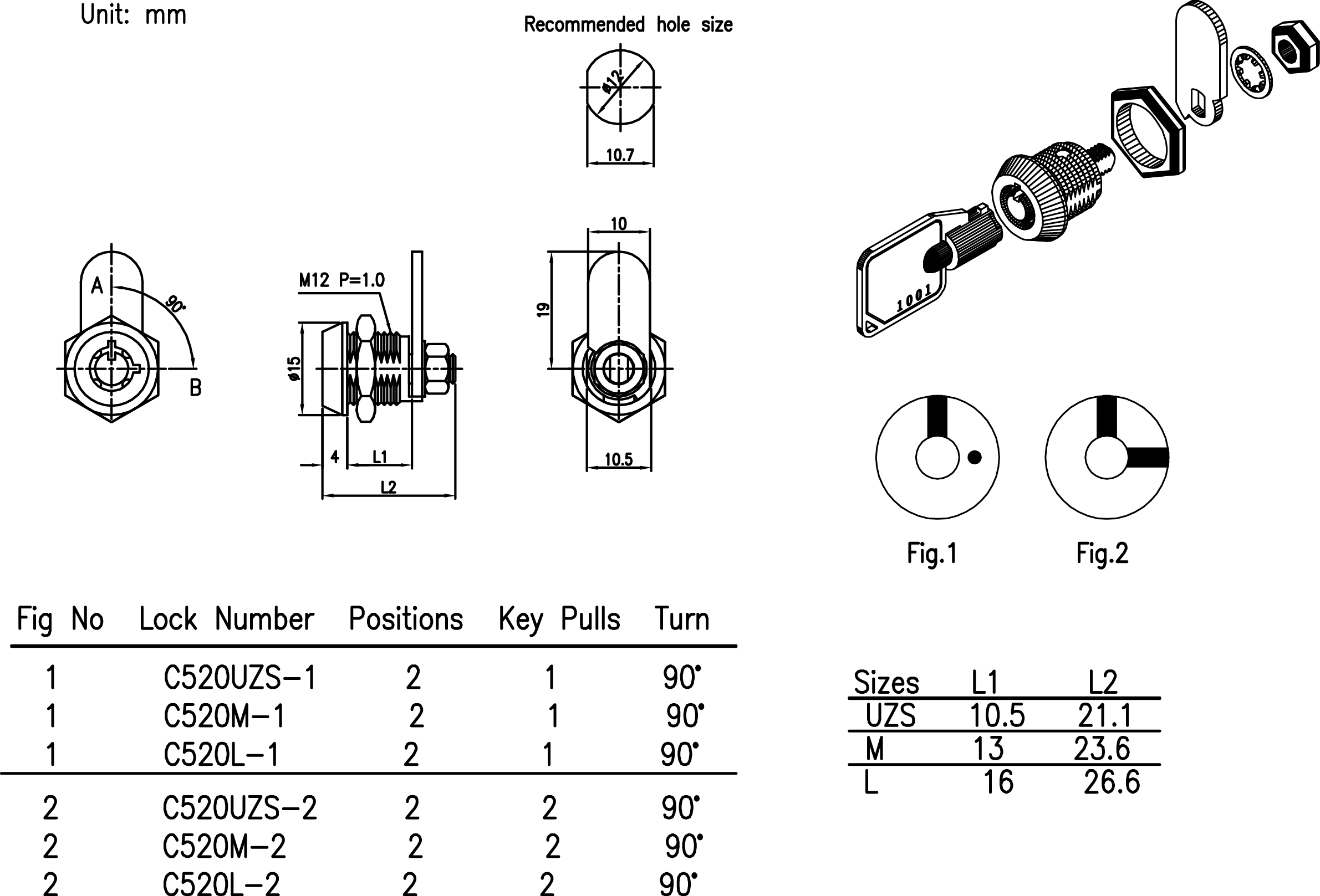Mechanical Key Lock