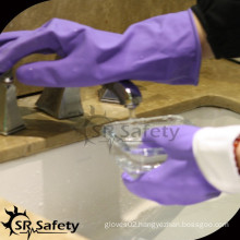 SRSAFETY spray latex dipped thin waterproof household gloves
