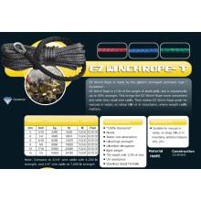 "3/16 ""X 50 'Ez Winch Rope-T para rescate acuático / ATV y UTV / Climb / Airborne"