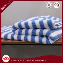100%New Cotton Stripe Sky Blue and White Beach Towel