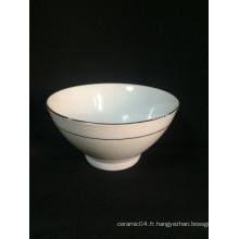 Bol à pédale en céramique blanc pur épaississement de haute qualité