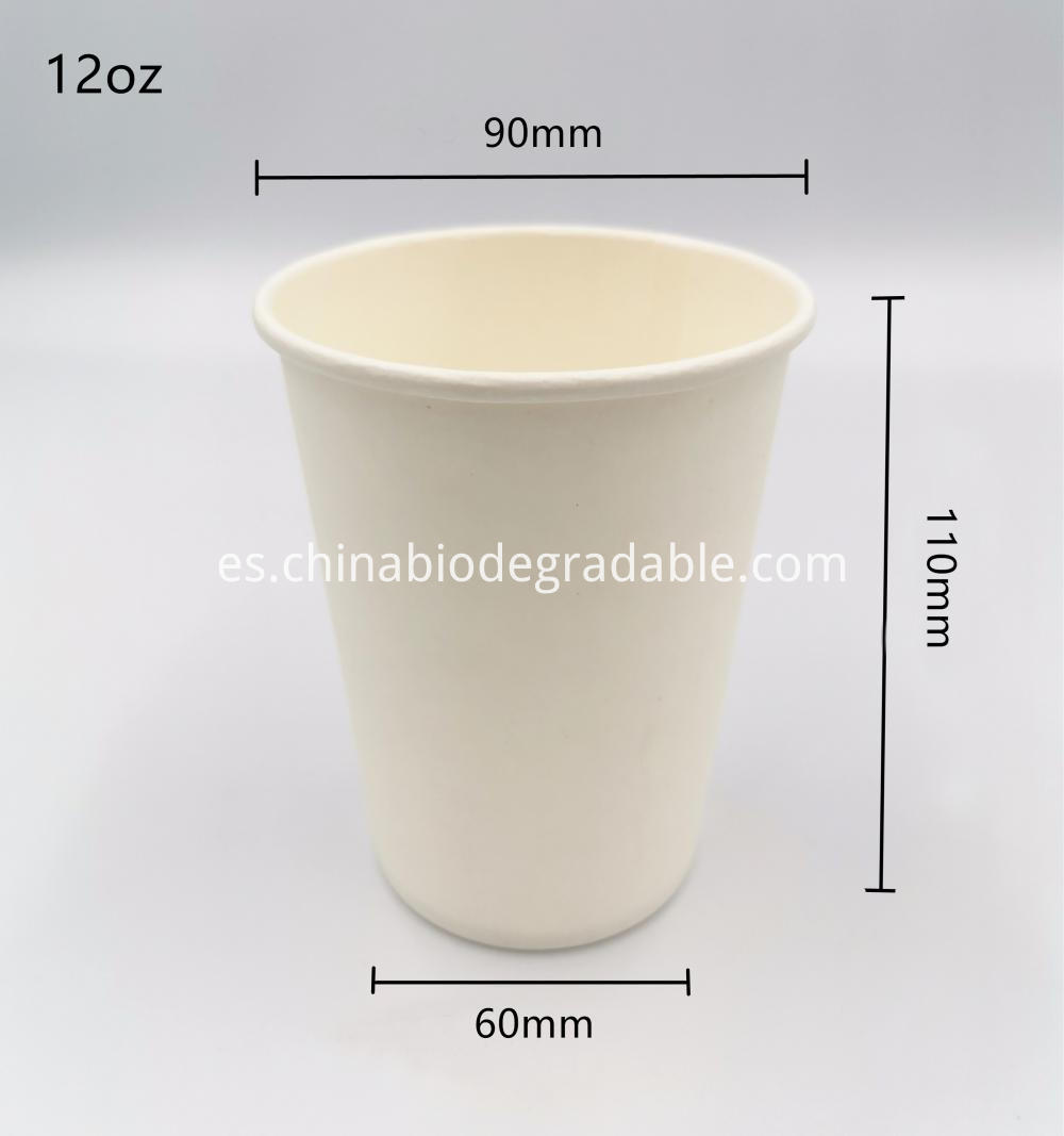 12oz PLA Biodegradable Hot Coffee Cup