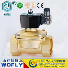 Válvula solenóide de água elétrica de 2 polegadas válvula solenóide 24v