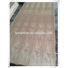 Corona de madera de teca de Birmania de lujo de la madera contrachapada / flor de corte de teca chapa de madera contrachapada / chapa de ceniza de madera contrachapada