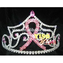 Corona hecha a medida de la tiara de la cinta del rhinestone de la joyería del pelo