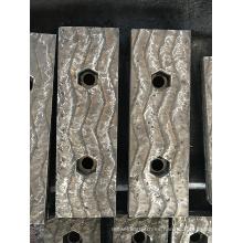 Revestimiento de revestimiento duro con cordón de soldadura en zigzag